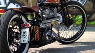 Frau Blucher, a 1960 Kustom Triumph, by Angry Monkey Motorcycles