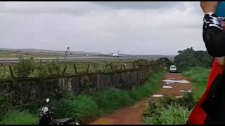 Jet Airways take off in Mangalore Airport