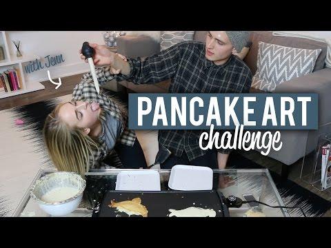 PANCAKE ART CHALLENGE (w/ Jenn McAllister!)
