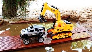รีวิวรถบังคับวิทยุ รถแม็คโครลุยน้ำ รถของเล่น R/C excavator Hydraulic