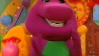 4th Barney, Baby Bop and BJ is balloons and confetti falls down with no everybody YAY!!