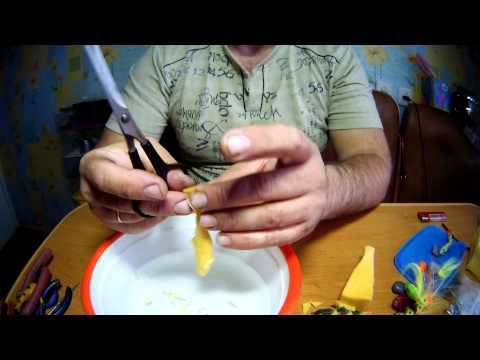 как сделать приманку из поролона видео