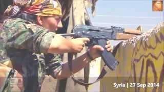 KURDISH GIRLS FIGHTERS  IN REAL BATTLE vs. ISIS in Kobani
