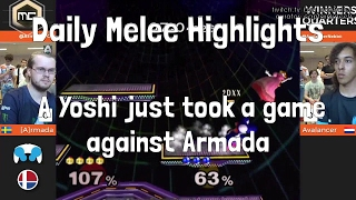Daily Melee Highlights: A Yoshi just took a game against Armada