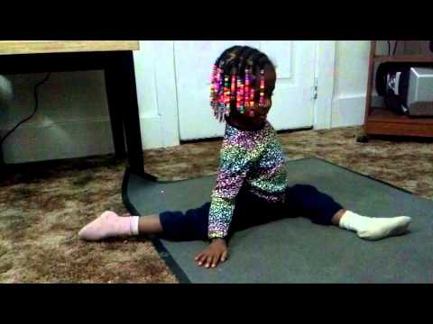 Flexible 3 year old girl