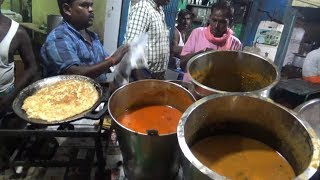 Chennai Street Dinner ( Paratha with Mutton Bati @ 60 rs Omelette @ 10 rs ) | Street Food Loves You