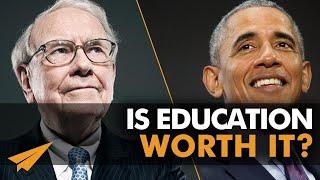 Is an Expensive Education WORTH IT? | Warren Buffett (no) vs. Barack Obama (yes)