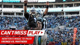 Cam Newton's Magic Trick to Avoid Sack & TD Pass to Devin Funchess!   Can't-Miss Play   NFL Wk 14
