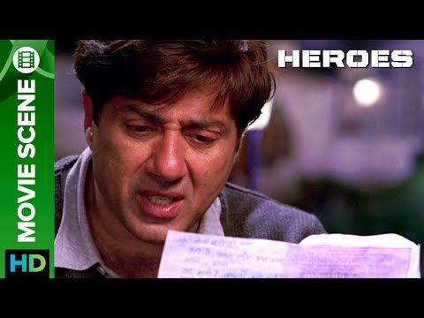 Last Letter From lndian Army Officer To His Family | Movie Scene | Heroes | Sohail Khan, Sunny Deol
