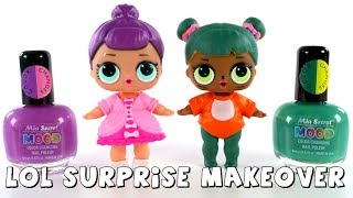 LOL Surprise Dolls Makeover   Color Changing Nail Polish DIY   DCTC Amy Jo
