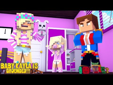 Minecraft LITLE LEAH & LITTLE DONNY GROUND BABY KAYLA & TAKE AWAY ALL HER TOYS!!!