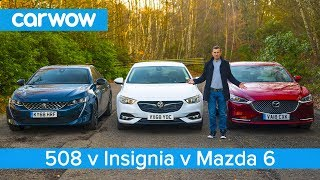 Peugeot 508 v Mazda 6 v Insignia Grand Sport - which is the best large family car?