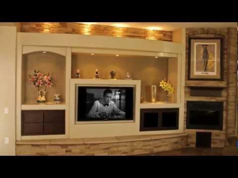 Thunderbird Custom Design Custom Media Walls & Drywall Entertainment Centers