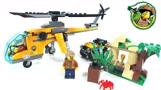 LEGO City Jungle Cargo Helicopter 60158: Speed Build