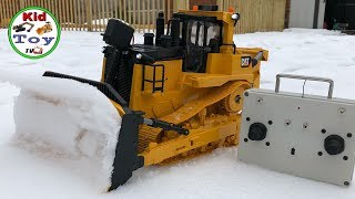 RC BULLDOZERS || BRUDER MODIFIED || HOMEMADE || TOY REVIEW AND TESTED! KID TOY TV