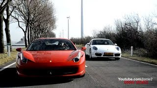 Ferrari 458 Italia & Porsche 991 Carrera S In Action!! - 1080p HD