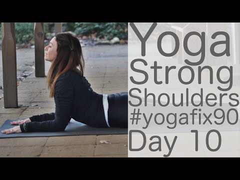 40 Minute Day 10 Strong Shoulders and Abs Yoga Fix 90 with Fightmaster Yoga