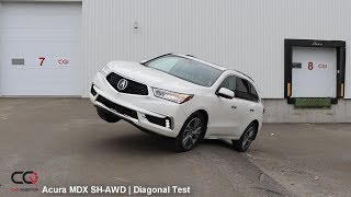 SH-AWD Diagonal TEST: Acura MDX   Can it climb?