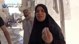 حلب حي باب النيرب أم الشهيد تبكي على ابنها المتزوج حديثاً ج2 11 8 2014م