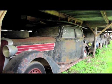 Bugatti e Ferrari d epoca tesoro abbandonato scoperto in granaio