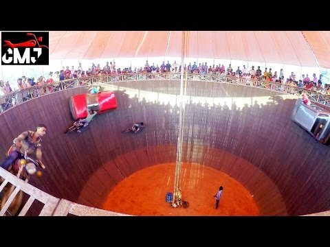Xxx Mp4 खतरनाक कुआं मौत का।। India S Deadly Well Of Death ☠ Don T Try These Dangerous Stunts 3gp Sex