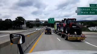 BigRigTravels LIVE! Dupont, Pennsylvania to Binghamton, New York I-81 North- August 11, 2017