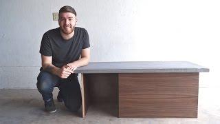 DIY Modern Concrete Coffee Table   Modern Builds   EP. 32