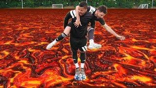 THE FLOOR IS LAVA | FOOTBALL EDITION!