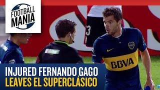 Injured Fernando Gago leaves El Superclásico - Copa Sudamericana 2014