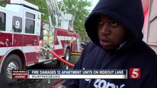 12 Units Damaged In Murfreesboro Apartment Fire