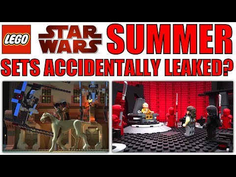 LEGO Star Wars 75216 SNOKE'S THRONE ROOM SET LEAKED? + Canto Bight Police Speeder LEGO Set For 2019?