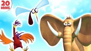 GAZOON | Funny Animals Cartoons Compilation Just for Kids Children Babies HD CARTOONS HooplaKidzTV!