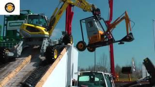 Menzi Muck all terrain excavator demo Bauma 2016