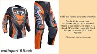 Bambini tuta motocross   WULFSPORT ATTACK Bambini Maglia e pantaloni Moto cross ATV Quad Of