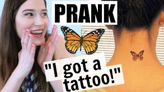 PRANKING MY PARENTS!!! I GOT A TATTOO!!!