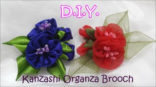 D.I.Y. Kanzashi Organza Brooch - Tutorial | MyInDulzens