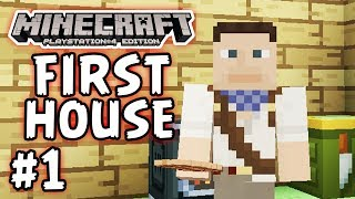 Minecraft Ps4 - Part 1 - The First House!