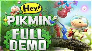 Hey!  Pikmin - FULL DEMO PLAYTHROUGH! [Nintendo 3DS Gameplay]