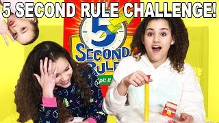 5 SECOND RULE CHALLENGE!! (Haschak Sisters)