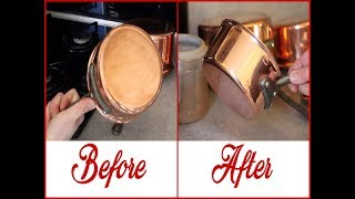 How to clean Mauviel Copper Pans : Grandmother technic