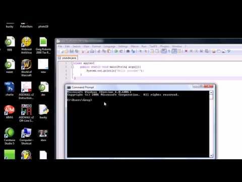 Java Programming Tutorial - 2 - Running a  Java Program