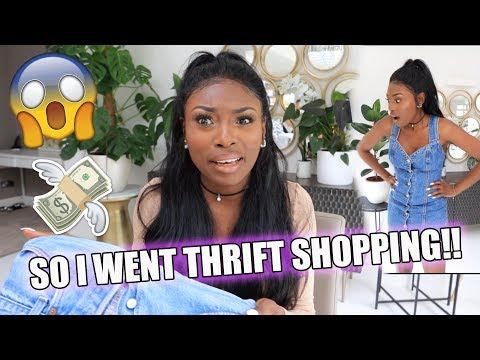 I SPENT £200 SHOPPING AT THE THRIFT STORE... CAN I EVEN MAKE A LOOK?