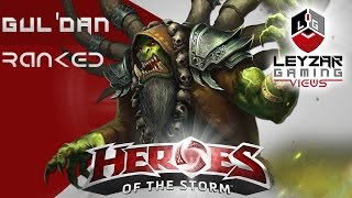 Heroes of the Storm Ranked Gameplay - Gul'dan Meta Build (HotS Gul'dan Gameplay Team League)