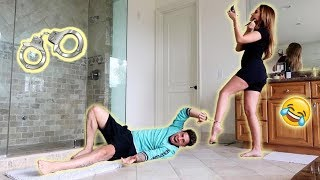 24 HOUR HANDCUFF CHALLENGE WITH PREGNANT WIFE!!! (HILARIOUS)