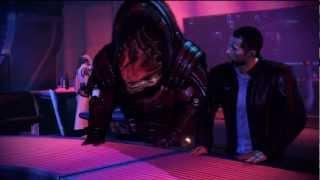 Mass Effect 3 Citadel DLC: Wrex and Shepard at the Bar