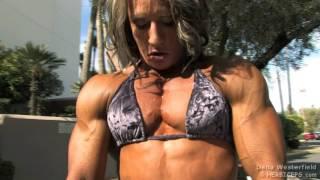 Dena Westerfield 10Phoenix PosingSuit Chest Pump HD