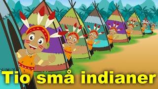 Barnsånger på svenska | Tio små indianer med mera