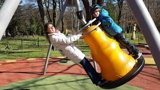 Playground Spring Family Fun - Fastest Slide EVER !
