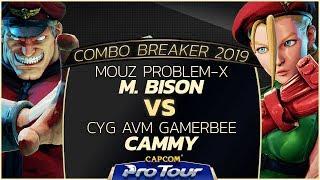MOUZ Problem-X (M. Bison) vs CYG AVM Gamerbee (Cammy) - Combo Breaker 2019 Top 96 - CPT 2019