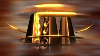 Free Stock Video Download - Rotating Golden Tower Speakers Loop